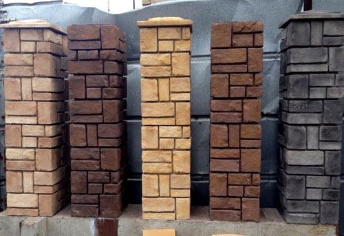 Бетонные блоки для столбов забора