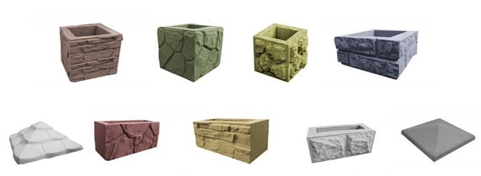 Различные виды декоративных блоков