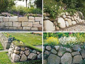 Различные виды каменных ограждений
