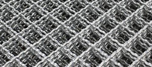 Стальная канилированная сложно-рифленая сетка