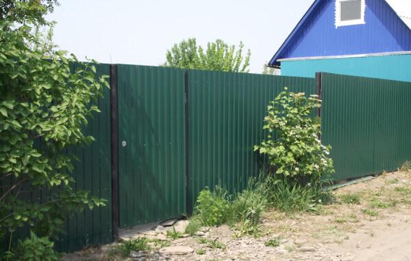 Забор из пофлиста