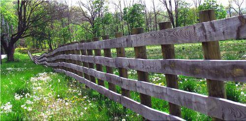 Деревянный забор между соседями