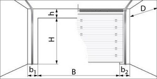 Принцип измерения размеров рулонных ворот