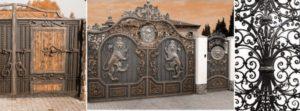 Декоративная художественная ковка ворот