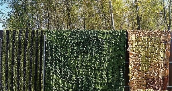 Различные виды декоративной маскировочной сетки для ограждений