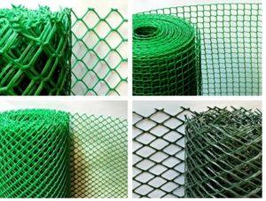 Различные виды пластиковых сетчатых полотен для ограждения