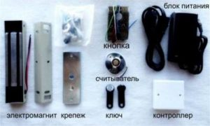 Комплектация электромагнитного замка